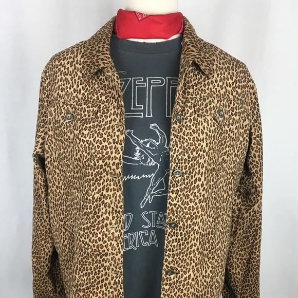 123249cd Forever 21 Tops | Leopard Rocker Button Down Shirt | Poshmark